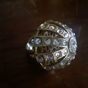 Betsey Johnson RARE Dome Cage Statement Ring
